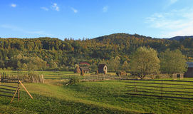 Landscape in Bucovina,Romania. Landscape in a rural area from Bucovina in Romania Royalty Free Stock Photos