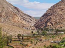 The landscape of the Buen Paso valley Stock Images