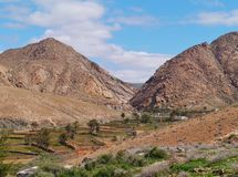 The landscape of the Buen Paso valley Royalty Free Stock Photo
