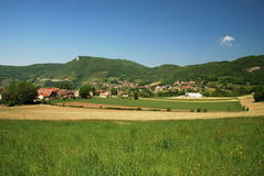 Landscape of Bugey region Stock Photography