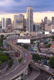Landscape building modern business district of Bangkok. S-shaped Royalty Free Stock Image
