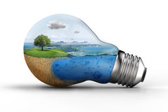 Landscape in a bulb Stock Photos