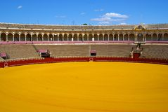 Landscape of bull arena, Seville, Spain Royalty Free Stock Images