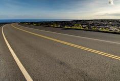 Landscape bushes grass volcanic soil Big Island. Stock Images