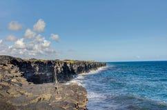 Landscape bushes grass volcanic soil Big Island. Stock Image