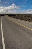 Landscape bushes grass volcanic soil Big Island. Royalty Free Stock Image