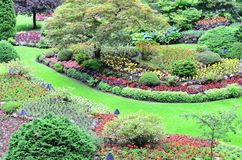 Landscape in butchart garden Royalty Free Stock Photo