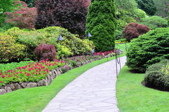 Landscape in butchart garden Stock Photo