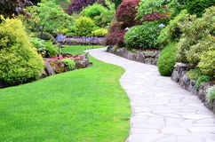 Landscape in butchart garden Royalty Free Stock Image