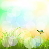 Landscape with butterflies Vector EPS 10 3 Royalty Free Stock Photos