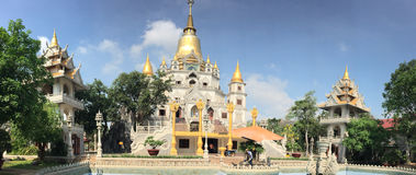 Landscape of Buu Long Buddhist temple Royalty Free Stock Photos