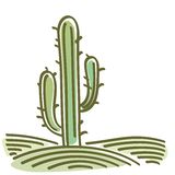 Landscape with cactus Stock Photography