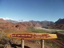 Landscape of Cafayate. Valles calchaquíes, Cafayate, Salta Argentina stock images