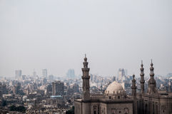 The landscape of cairo. Cairo under a sand storm Stock Photography