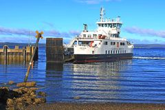 Landscape  cal mac ferry largs ayrshire scotland Stock Photo
