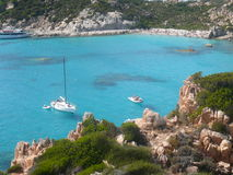 Landscape cala corsara spargi Stock Photo