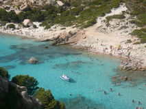Landscape cala corsara spargi Royalty Free Stock Photo