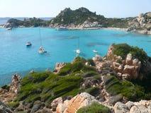 Landscape cala corsara spargi Stock Images