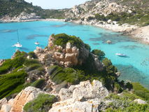 Landscape cala corsara spargi Royalty Free Stock Photos