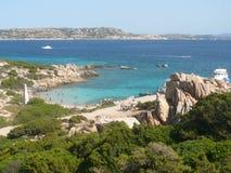 Landscape cala corsara spargi Royalty Free Stock Image