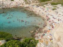 Landscape cala corsara spargi Stock Image