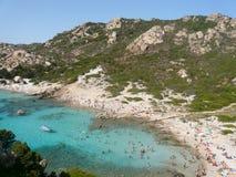 Landscape cala corsara spargi Royalty Free Stock Images