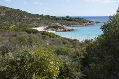 Landscape cala del principe sardinia Royalty Free Stock Photo