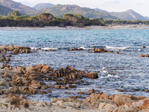 Landscape of Cala Ginepro beach in the gulf of Orosei Sardinia I Royalty Free Stock Photos