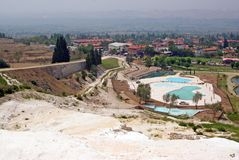 Landscape with calcium relief in pamukkale Stock Images