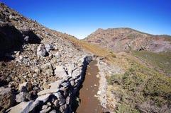 Landscape of Caldera de Taburiente from La Palma Royalty Free Stock Image