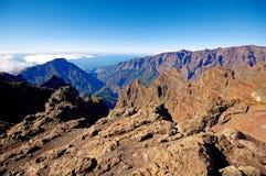 Landscape of Caldera de Taburiente from La Palma Royalty Free Stock Photo