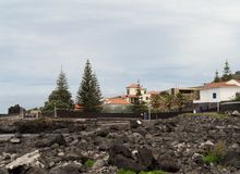 Landscape Caloura, Agua de Pau. Parish, Lagoa. Sao Miguel Island, Azores, Portugal Royalty Free Stock Images
