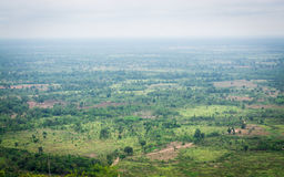 Landscape of cambodia border view from thailand. Landscape of cambodia border view from Chong Plodtang, Kap Choeng District, Surin Province, Thailand stock images