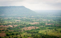 Landscape of cambodia border view from thailand. Landscape of cambodia border view from Chong Plodtang, Kap Choeng District, Surin Province, Thailand stock photos