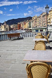 Landscape - Camogli. A landscape of a typical village in the Italian Riviera. Here is Camogli between Genoa and Portofino royalty free stock image