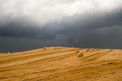 Landscape in Campania (Italy): a storm is coming Stock Photos