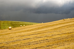 Landscape in Campania (Italy): a storm is coming Stock Image