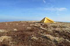 Landscape of camping tent Royalty Free Stock Images