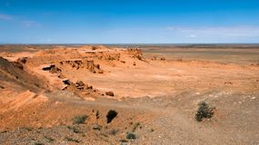 Landscape with canyon in Mongolia desert of Gobi. Landscape with canyon in Mongolia Royalty Free Stock Photos