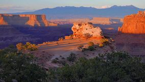 The landscape of Canyonlands National Park stock image