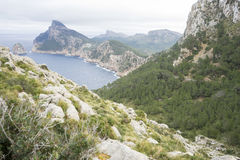 Landscape, Cape formentor on the island of Majorca in Spain. Cli Stock Images