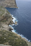 Landscape, Cape formentor on the island of Majorca in Spain. Cli Royalty Free Stock Photo