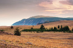 Landscape of cape Khoboy, Baikal Stock Photo
