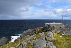 Landscape at Cape St Francis, NL Canada. Landscape along the Killick Coast, former site of the lighthouse; now a helicopter pad Cape St Francis , Avalon stock photography