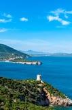 Landscape of capo caccia in sardinia. Landscape of the coast of sardinia Stock Image
