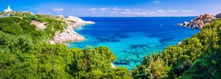 Landscape of Capo Testa, Sardinia, Italy. Landscape of Capo Testa, Azure sea bay with granite rocks, Sardinia - Italy Royalty Free Stock Image