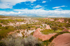 Landscape in Cappadochia Royalty Free Stock Photos