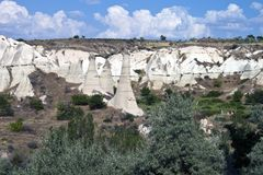 Landscape in Cappadocia Stock Photography