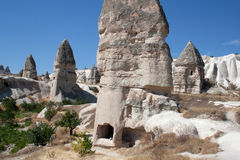 Landscape in Cappadocia Turkey Royalty Free Stock Images