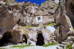Landscape of Cappadocia in Turkey, incredible rock formations Royalty Free Stock Photos